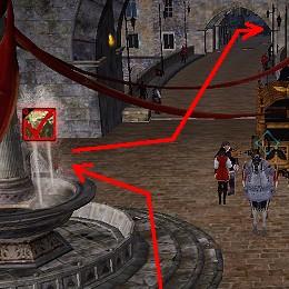 通路を東進、右折して城外へ