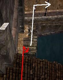屋根から封鎖門の南へ