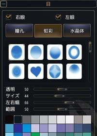 【キャラメイク】虹彩の設定