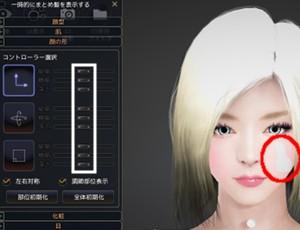 【キャラメイク】顔の形