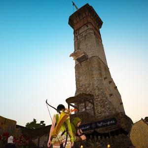 「また始まる旅III」塔への登り方