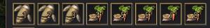 植えつけ作物が前にずれる