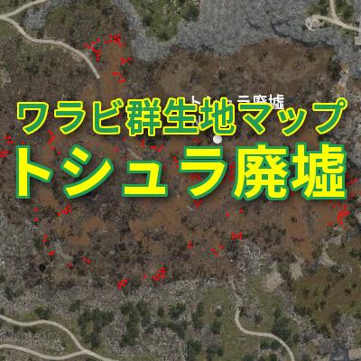 【黒い砂漠】ワラビ群生地マップ~トシュラ廃墟~
