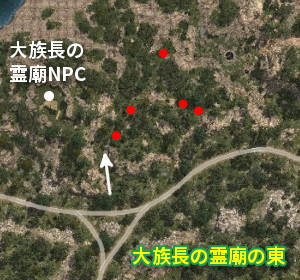 野生馬マップ 大族長の霊廟