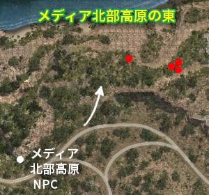 野生馬マップ メディア北部高原